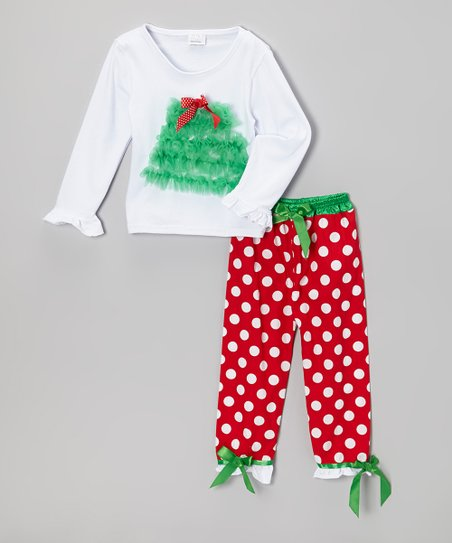 Red Tree Tulle Top & Pants - Toddler & Girls