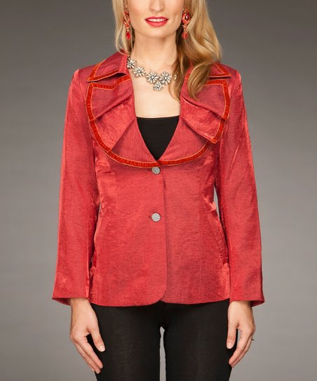 Red Ruffle Jacket