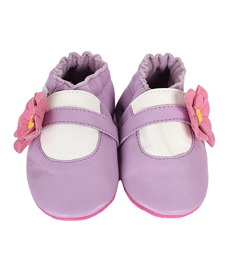 Purple Flower Girl Bootie