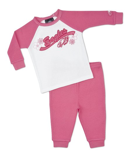 Pink Philadelphia Eagles Tee & Pants - Infant, Toddler & Girls