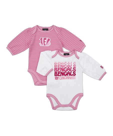 Pink Cincinnati Bengals Long-Sleeve Bodysuit Set - Infant