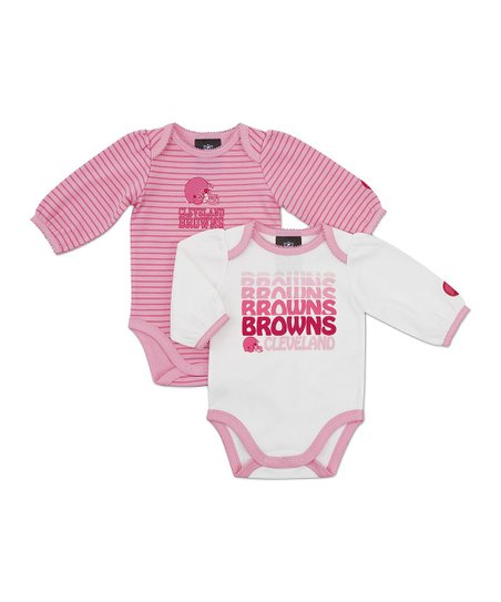 Pink Cleveland Browns Long-Sleeve Bodysuit Set - Infant