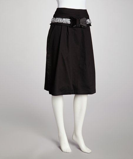 Black & White A-Line Skirt