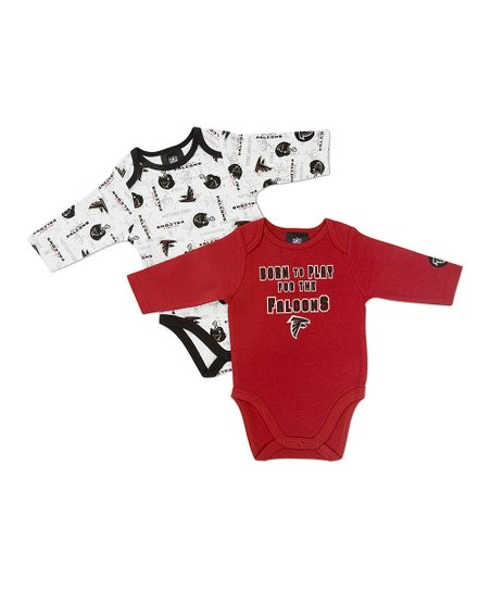 Red Atlanta Falcons Long-Sleeve Bodysuit Set - Infant