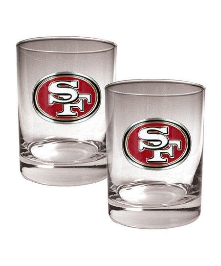 San Francisco 49ers Rocks Glass - Set of Two