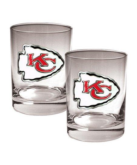 Kansas City Chiefs Rocks Glass - Set of Two