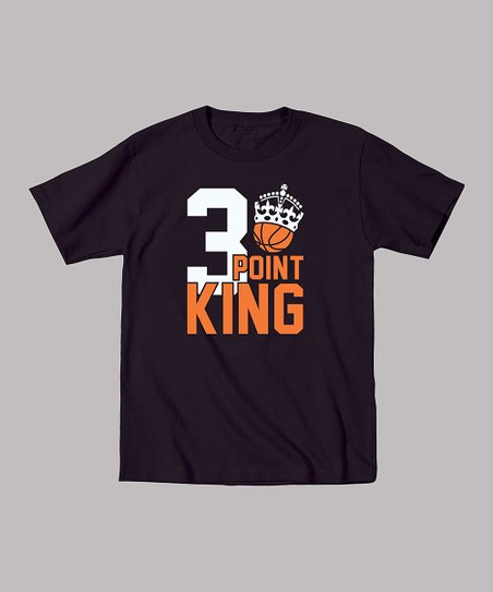 Black '3 Point King' Tee - Toddler & Boys