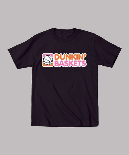 Black 'Dunkin' Baskets' Tee - Toddler & Boys