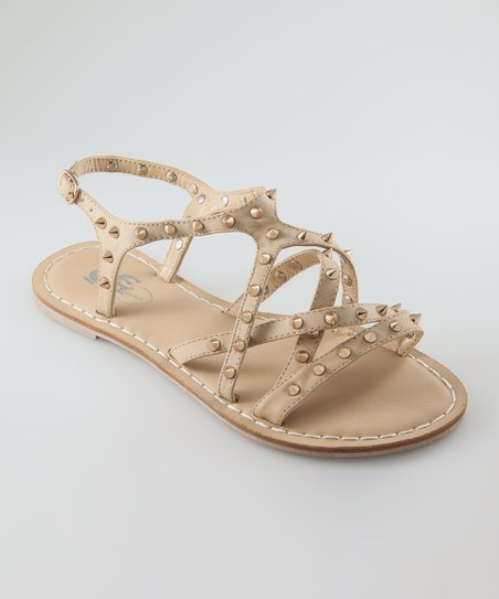 Natural Exine Strappy Sandal