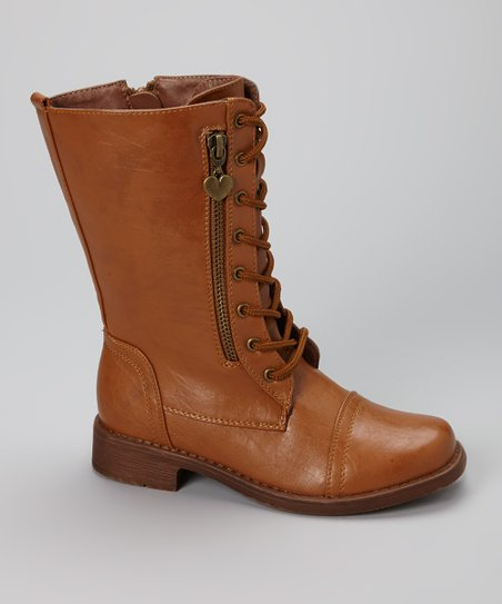 Tan Zip Moto Boot