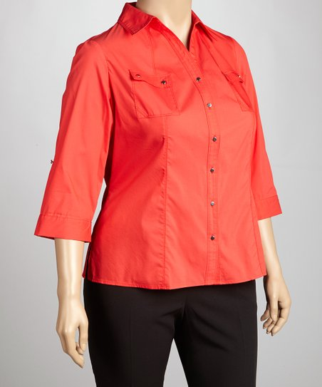 Sienna Three-Quarter Sleeve Top - Plus