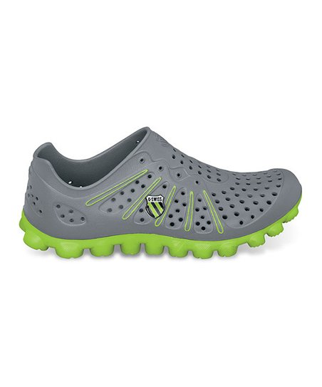 Charcoal & Lime Vertical Tbs Recover Running Shoe - Unisex