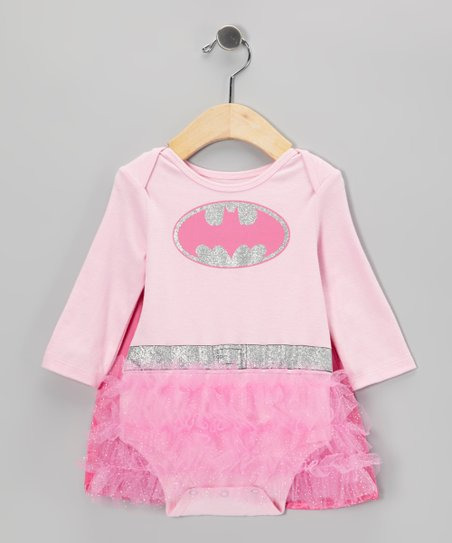 Pink Batgirl Caped Skirted Bodysuit - Infant