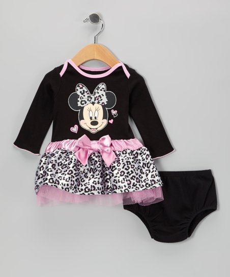 Black Minnie Dress & Diaper Cover - Infant