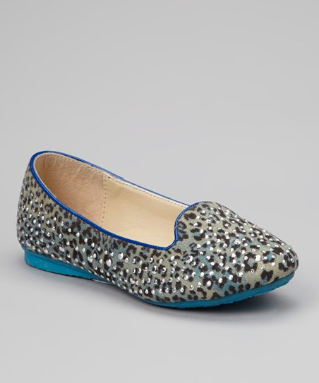 Blue Embellished Coral Loafer