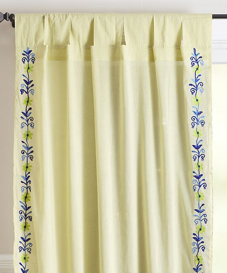 Green Western Curtain Panel