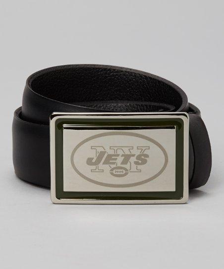 New York Jets Laser-Engraved Belt & Buckle - Men