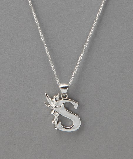 Sterling Silver Tinker Bell 'S' Pendant Necklace