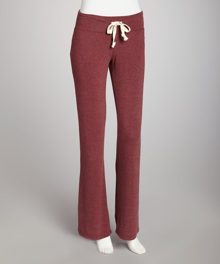 Cabernet Basic Flare Drawstring Pants