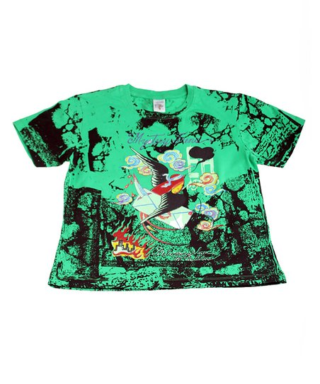 Green Swallow Tee - Kids