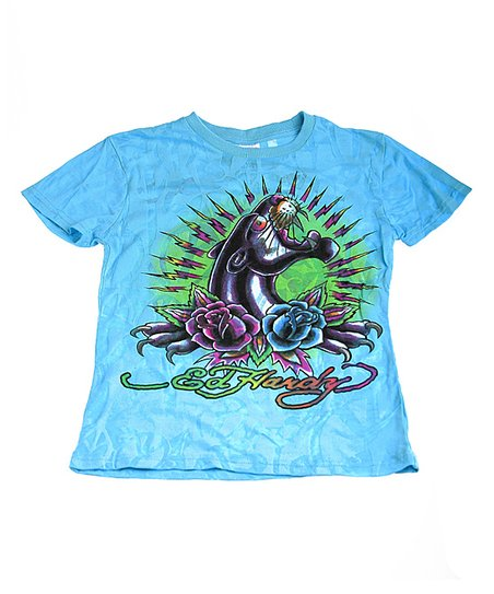 Teal Panther Tee - Kids