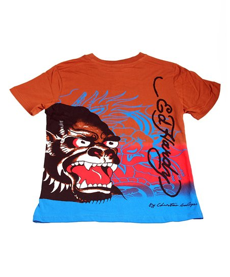 Tan & Blue Beast Tee - Boys