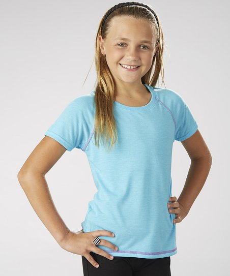 Feather Aqua Venus Tee - Girls