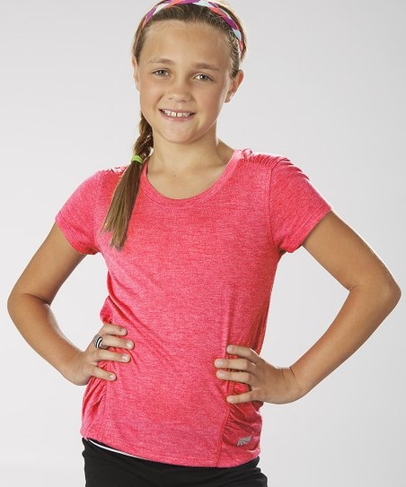 Diva Pink Ruched Tee - Girls