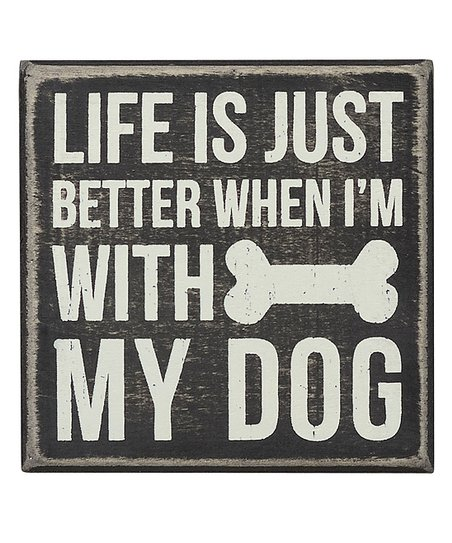 'With My Dog' Wall Sign