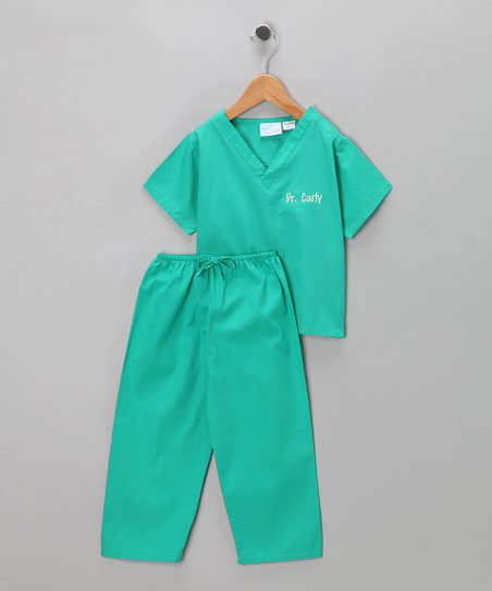 Green Scrub Personalized Dress-Up Set - Infant, Toddler & Kids