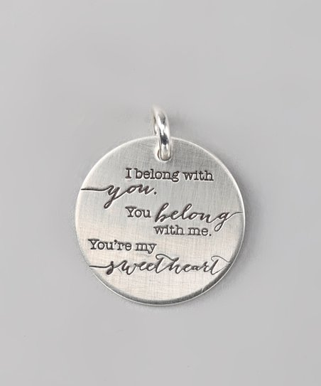 Sterling Silver Expressions 'I Belong' Charm