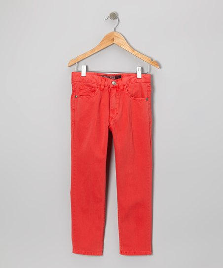 Poppy Red Straight-Leg Jeans - Boys