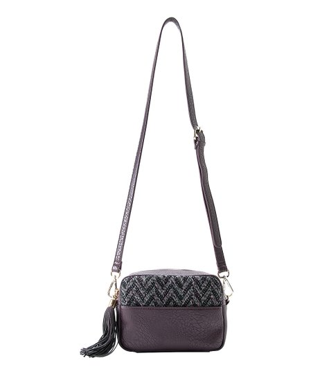 Bordeaux Dana Zippered Crossbody Bag