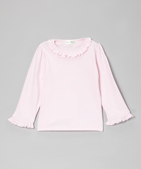 Light Pink Ruffle Tee - Infant, Toddler & Girls