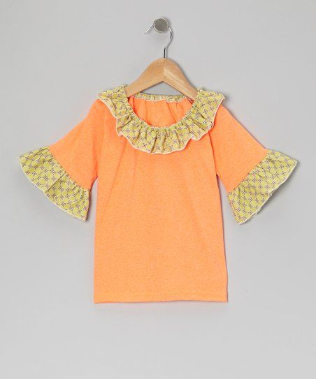 Orange Dots Ruffle Top - Infant, Toddler & Girls