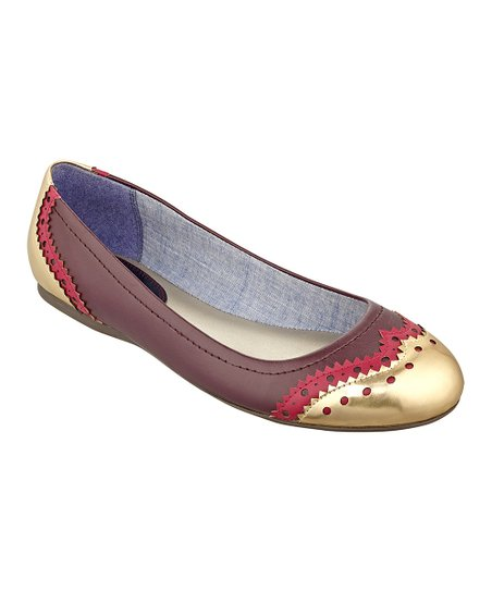 Purple & Gold Civiane Flat