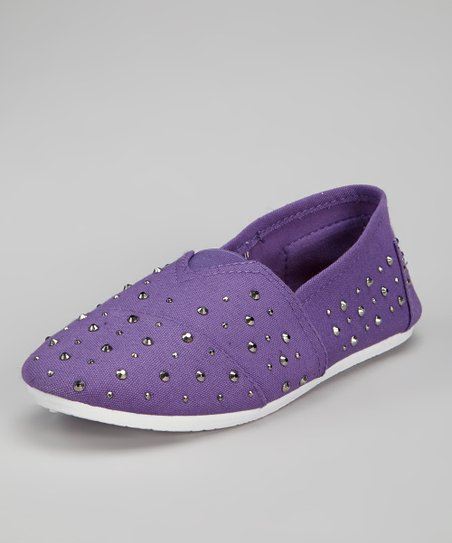 Purple Studded Slip-On Sneaker