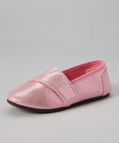 Pink Metallic Slip-On Sneaker