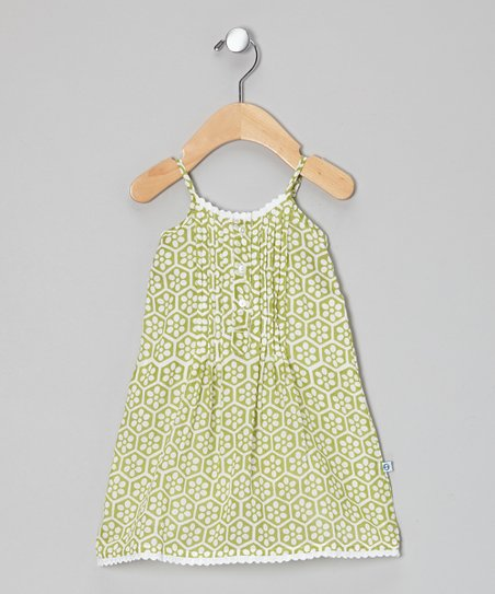 Lime Beehive Dress - Infant & Toddler