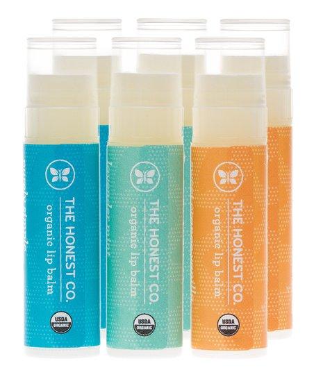 Organic Lip Balm - Set of Six