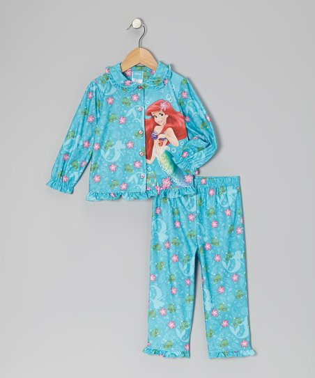 Blue Ariel Floral Pajama Set - Toddler