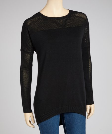 Black Hi-Low Sweater