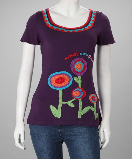 Purple Bardot Tee - Women