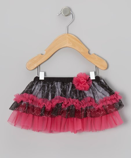 Black & Pink Lace Tulle Tutu - Infant