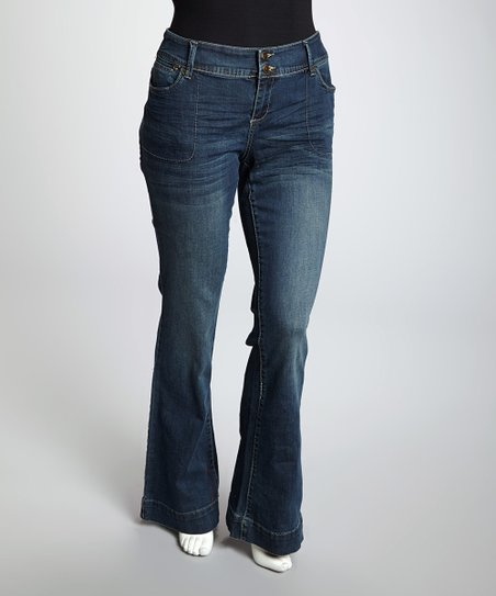 Medium Blue Charlie Flare Jeans - Plus