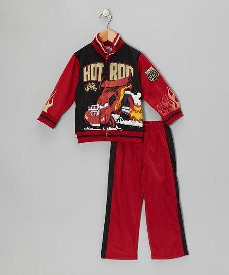 Red & Black Cars 'Hot Rod' Jacket & Pants