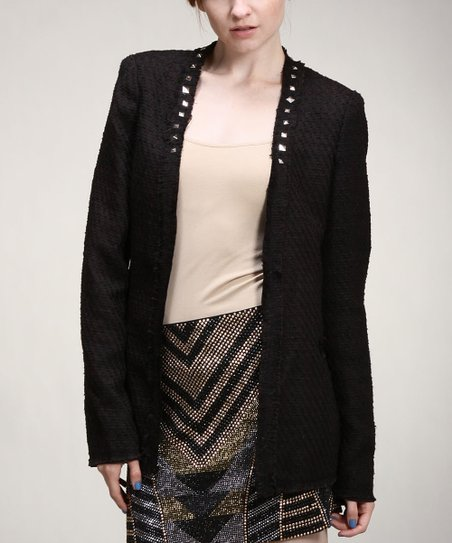 Black Stud Tweed Jacket