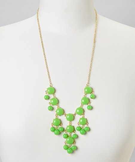 Green Mini Bubble Bib Necklace