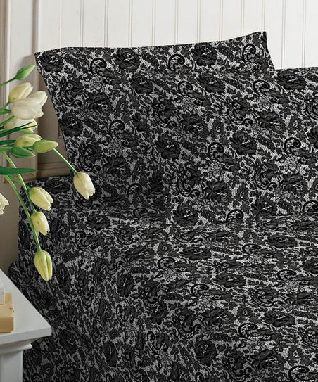 Chantilly Lace Satin Sheet Set