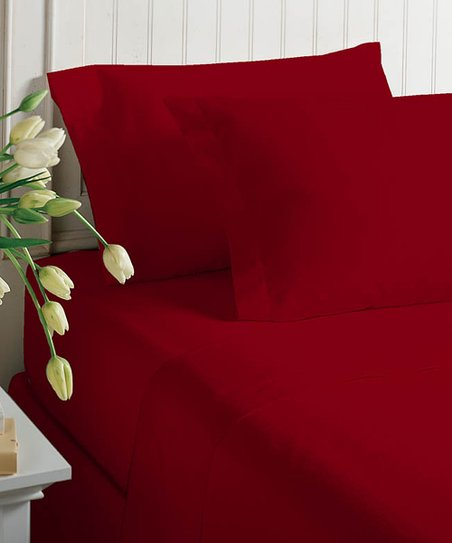 Chili Pepper Satin Sheet Set